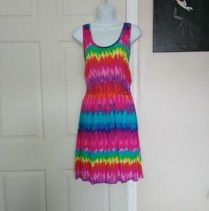 Mix & Co Sleeveless Tie Dyed Dress
